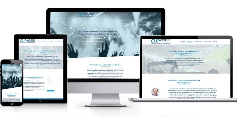 Website made by fullspectrum - CUPWORLD die innovative Welt der Mehrwegbecher
