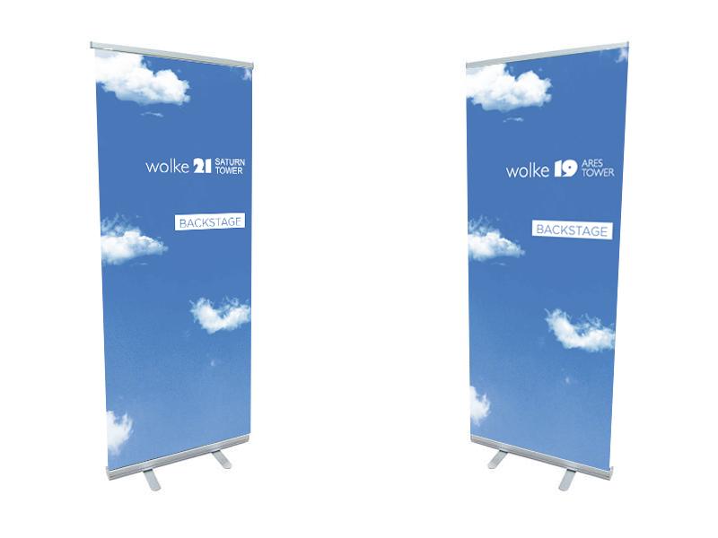 Werkstatt fullspectrum - Roll-Up für Wolke 19 und wolke 21