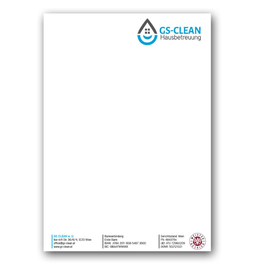 print fullspectrum - Briefpapier GS-CLEAN Hausbetreuung