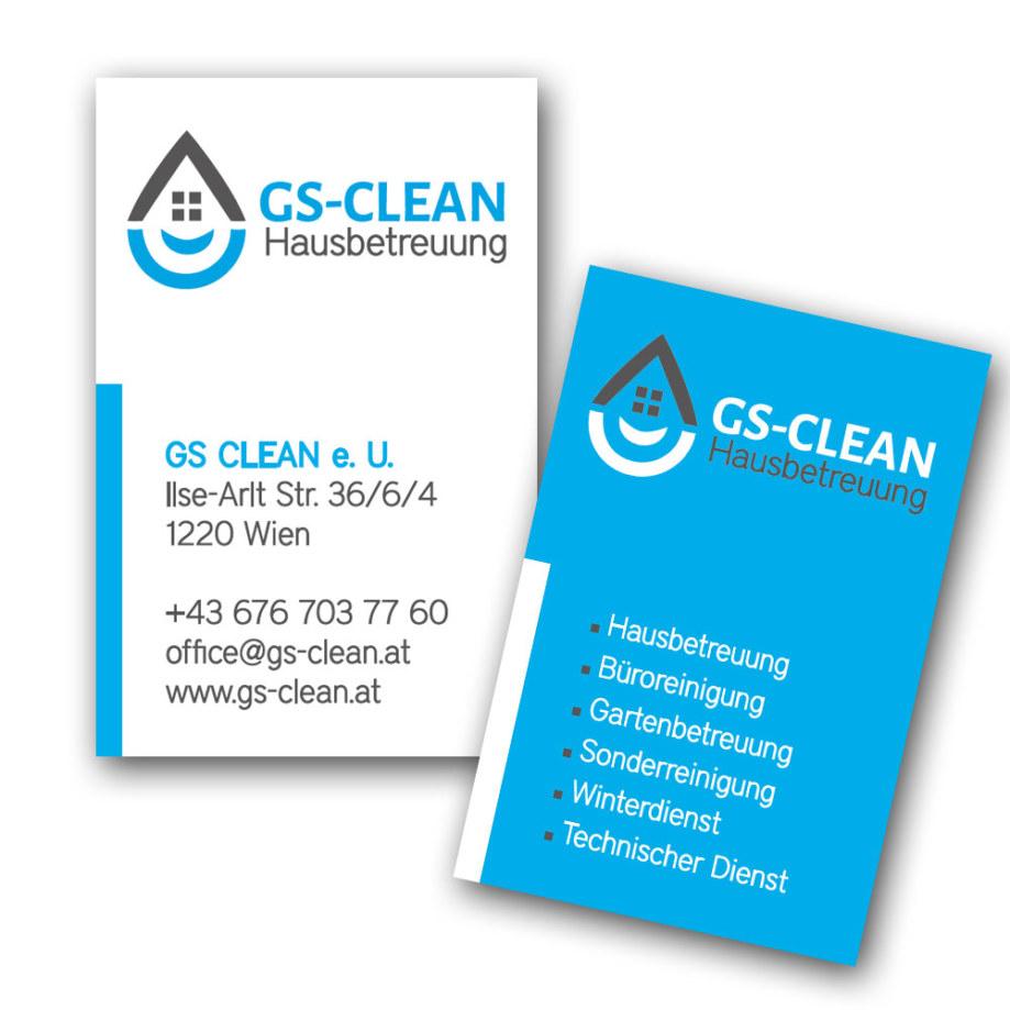 print fullspectrum - Visitenkarten GS-CLEAN Hausbetreuung
