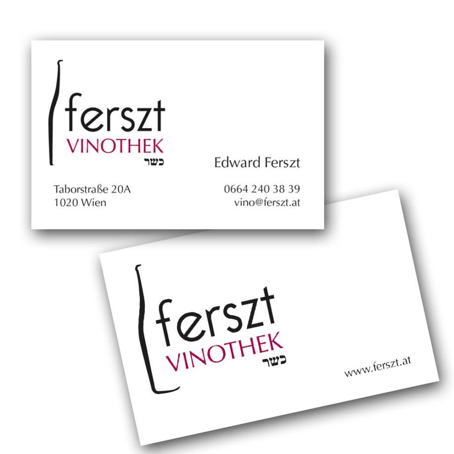 print fullspectrum - Visitenkarte für ferszt Vinothek