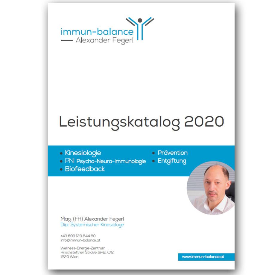 Leistungskatalog Deckblatt - immun-balance | Alexander Fegerl