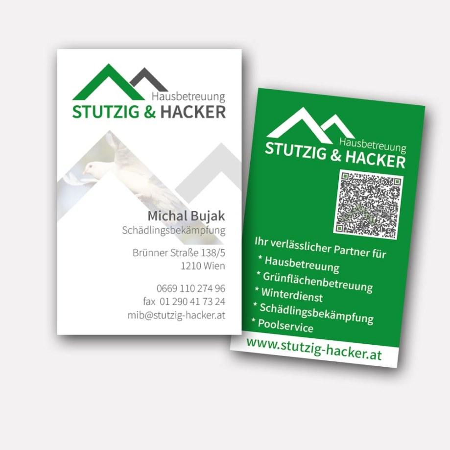 Visitenkarten - Hausbetreuung Stutzig & Hacker