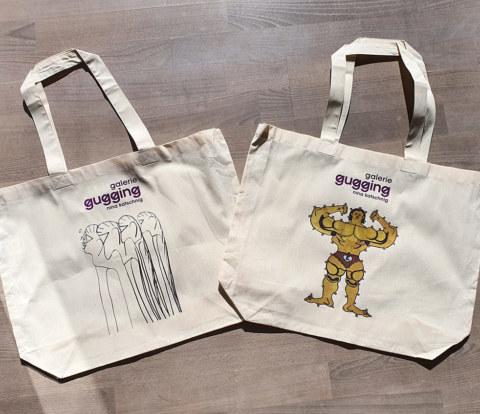 Werkstatt fullspectrum - Stofftaschen der Galerie Gugging