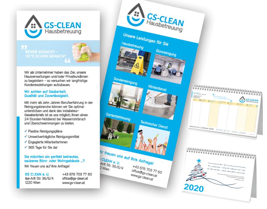print fullspectrum - Flyer und Kalender GS-CLEAN Hausbetreuung
