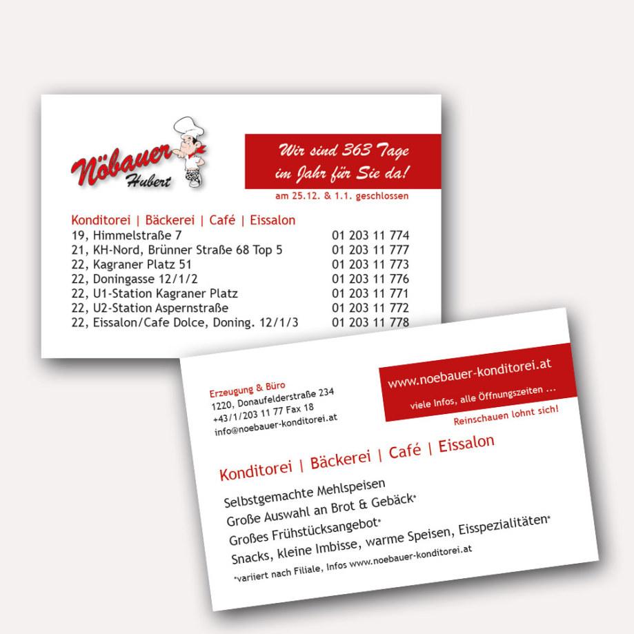 print fullspectrum - Visitenkarten für Konditorei Nöbauer