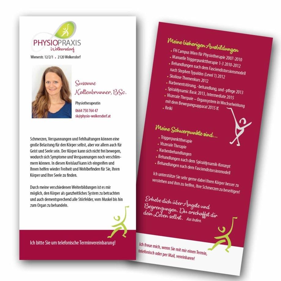 print fullspectrum - Visitenkarten mit Flyer für Physio-Wolkersdorf